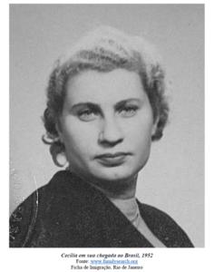 Cecília na Suécia - 1952