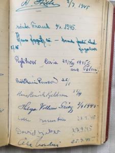 livro que os visitantes assinavam na casa do Hugo Valentin