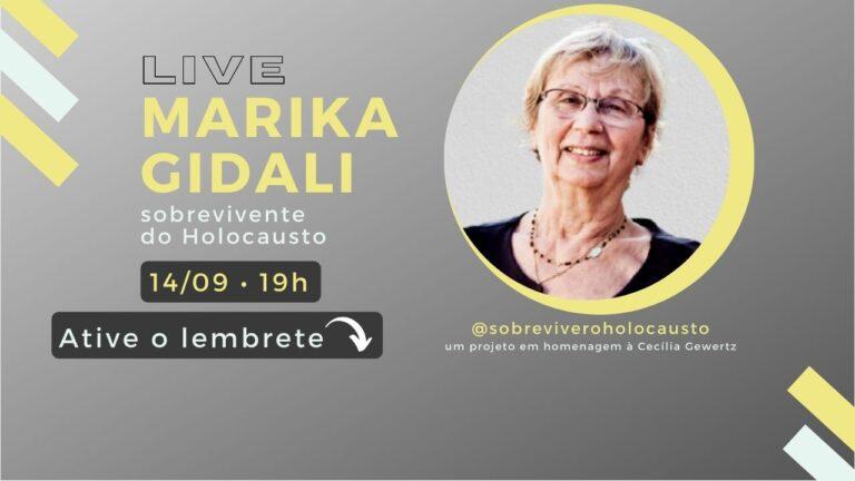 Marika Gidali live com a sobrevivente do Holocausto